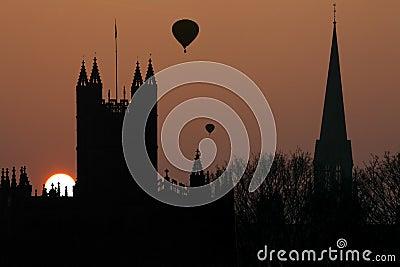 Bath Abbey in the City of Bath - England