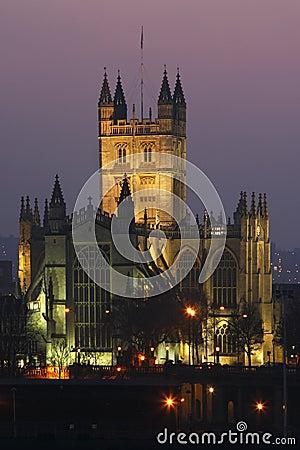 Bath Abbey in the City of Bath - United Kingdom
