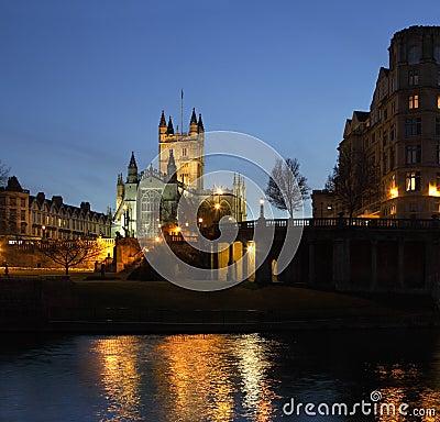 Bath Abbey - River Avon - Bath - UK