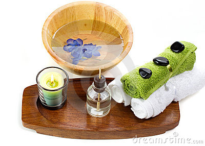 Bath accessories with aroma oils