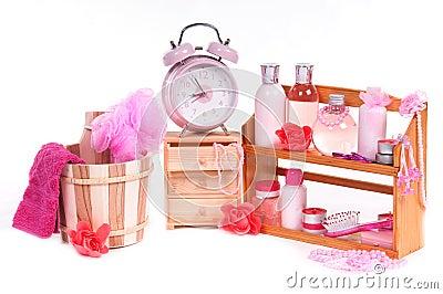 Bath pink set (a lot of dofferen bodycare items)