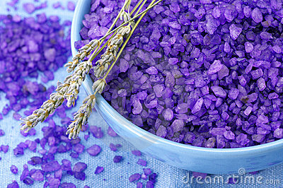Bath salt and lavander
