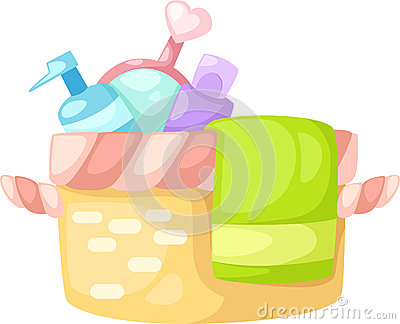 Bath set vector
