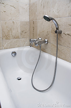 Bath with shower attachment