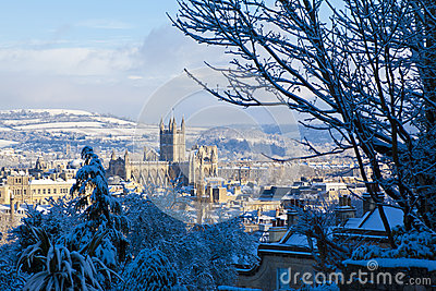 Bath in the snow