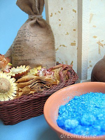Bath soaps and salts at spa