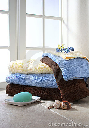 Free Bath Towels Royalty Free Stock Photos - 12085198