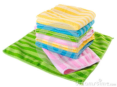 Bath towels in white background