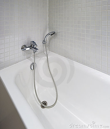 Bath Tub With Shower Attachment Stock Photo Image 15078460