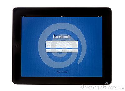 IPad Facebook App Editorial Image