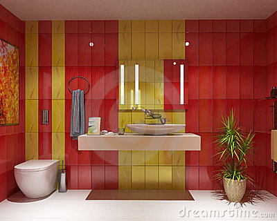 Stock photography bath wc interior design