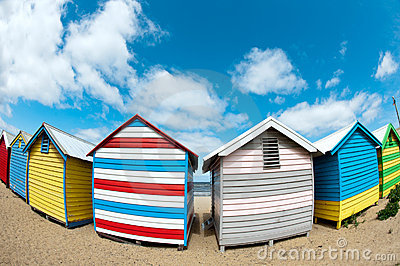 Bathing boxes on brighton beach - Melbourne - Oz