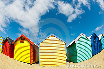 Bathing boxes on brighton beach - Melbourne - Oz