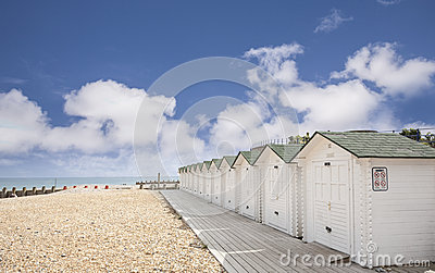 Bathing Huts at Eastbourne, East Sussex