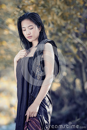 Free Bathing Woman Stock Photography - 93569532
