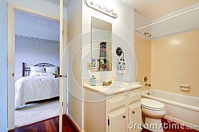 Bathoom interior in masterbedroom