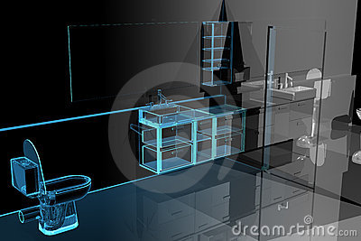 Bathroom (3D xray blue)
