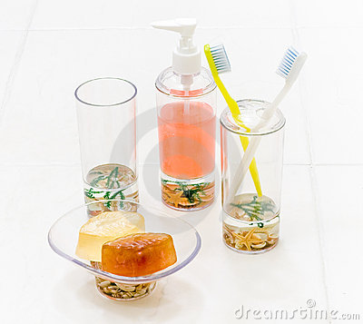Bathroom cleaning accessory isolated