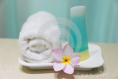 Bathroom Amenities Royalty Free Stock Image - Image: 25355486