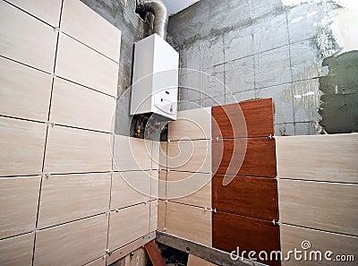 Bathroom being retiled