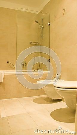 Bathroom bidet luxury hotel Budapest Hungary