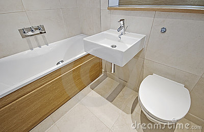 Bathroom with designer appliances