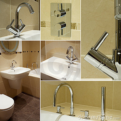 Free Bathroom Details Collage Royalty Free Stock Image - 12823916