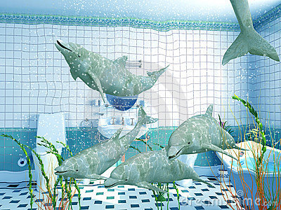 Bathroom dolphins