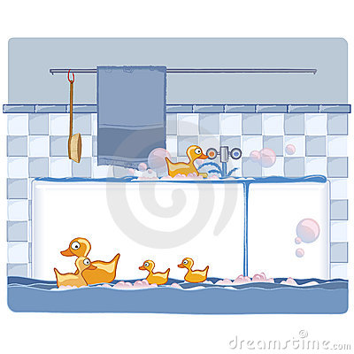 Bathroom with ducks