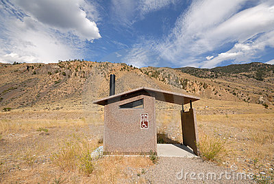 Bathroom in the field