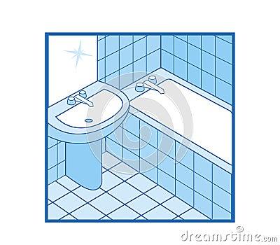 Bathroom Icon. Bathroom Icon Stock Photos   Image  4657803