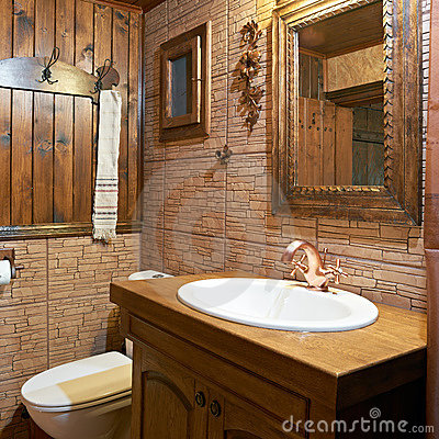 Bathroom interior of guest house