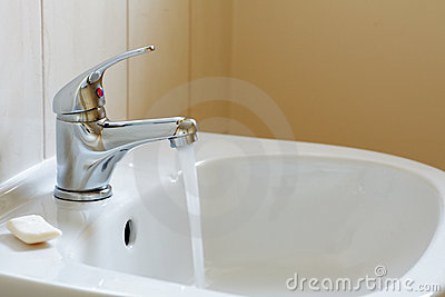 Bathroom interior - mixer tap