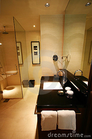 Free Bathroom Interior Of Brand New Luxury Resort Hotel Royalty Free Stock Photo - 5404445
