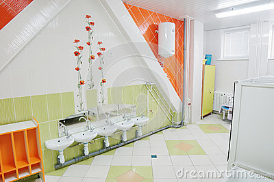 Bathroom in a kindergarten