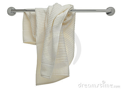 Bathroom object series - used towel on a rail