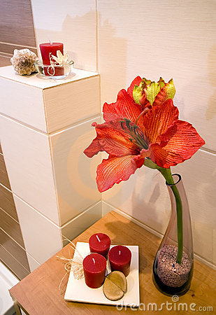 Bathroom shelf detail