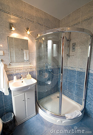 Bathroom shower cabin.