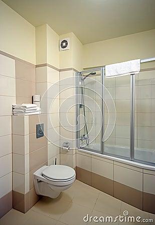 Bathroom shower cabin.