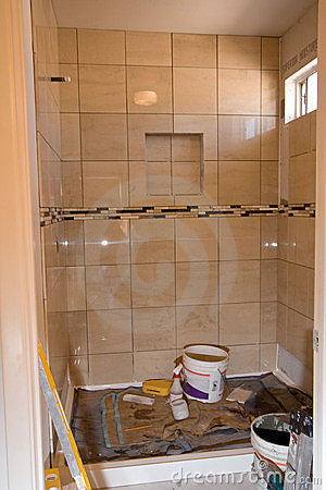 Bathroom shower tile remodel