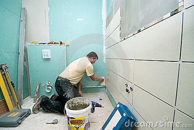 Bathroom tiles renovation