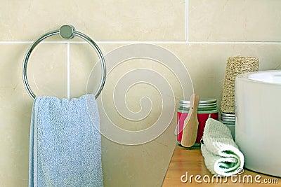 Bathroom Towel and Salt