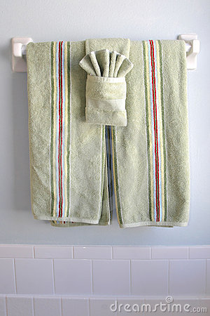 Free Bathroom Towels Under Window Light Stock Photo - 4634290