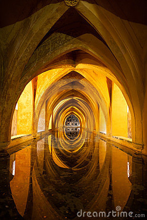 Baths of the Royal Alcazar. Sevilla, Spain
