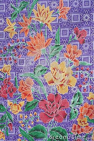 Batik design in Thailand