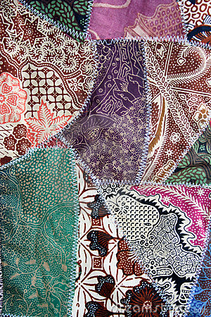 Free Batik Fabric Crazy Quilt Material Stock Image - 13865391