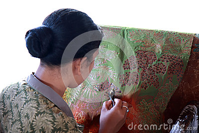 Batik Making Editorial Photography
