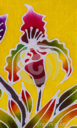 Free Batik Style Fabric Stock Images - 57355594