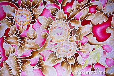 Batik style floral