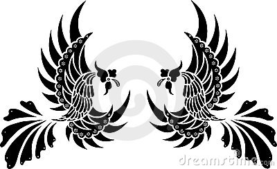 Batik Tribal Bird Isolated Vector